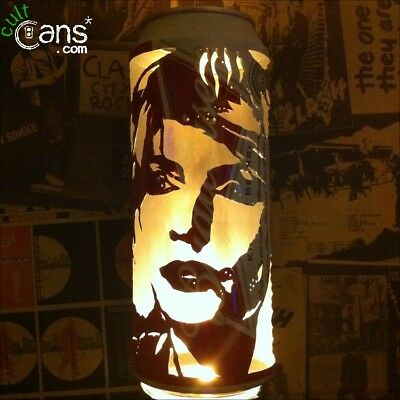 Debbie Harry Beer Can Lantern! Blondie Pop Art Portrait Candle Lamp