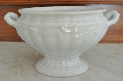Antique White Ironstone Elsmore & Forster Ceres Wheat Sauce Tureen No Lid