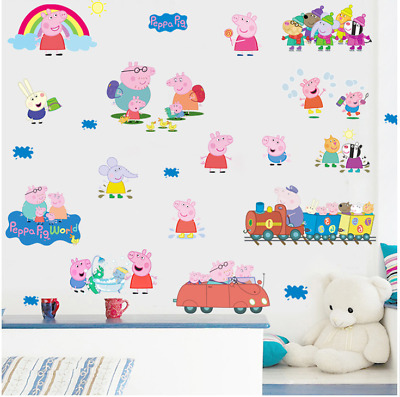 Peppa Pig wall sticker multi pack child's room wall decal UK
