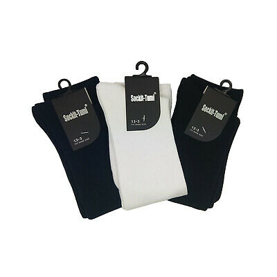 Girls School Knee High Cotton Socks Plain Colours Sizes 9-12 13-3 2-8 1 pair