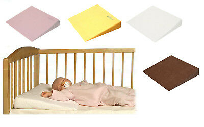 Baby Child Safety Foam Flat Wedge Pillow Cot Bed Anti Reflux Possitioner + Cover