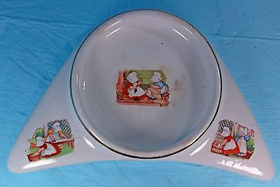 Antique Sunbonnet Babies 1912 Porcelain Underwood High Chair Baby Plate