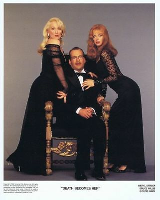 DEATH BECOMES HER -1992 - 1 Orig 8x10 COLOR Still - MERYL STREEP, B.WILLIS, HAWN