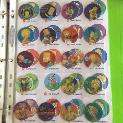 Frito Lay MAGIC MOTION TAZO 1996 The Simpsons (almost complete)