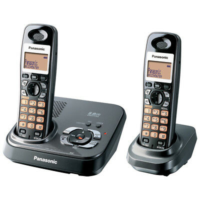 PANASONIC 5.8GHz TWIN HANDSET CORDLESS PHONE ANSWER MACHINE KX-TG4392