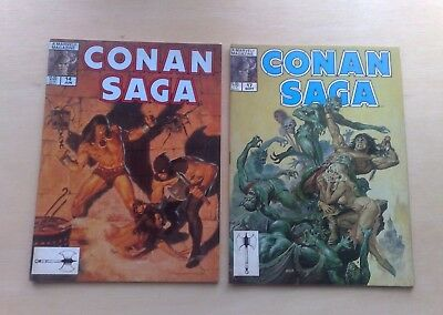 2 Issues Conan Saga Vol.1 #14 & 17 Marvel Comics 1988 Roy Thomas Stan Lee Fine