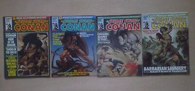 4 Issues Savage Sword Conan #39,40,41,42 Uk Marvel Monthly 1981 Fine Cond.