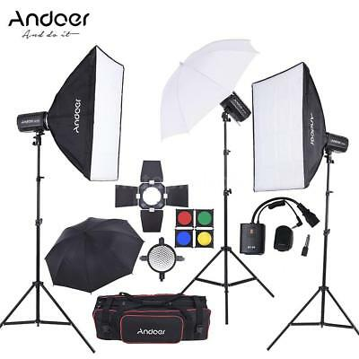 Andoer MD-300 900W Studio Strobe Flash Light Kit + Softbox for Video Photography