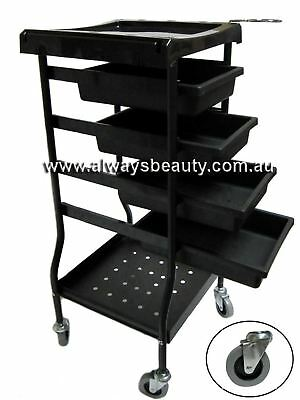 6 Tier Black Trolley Hairdressing Hair Beauty Salon Furniture Wholesale Aussie