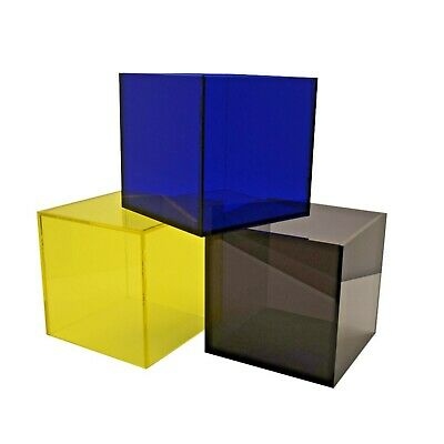 Perspex Cube Display Stand Square 5 Sided Box Acrylic Tray Retail Shop Holder