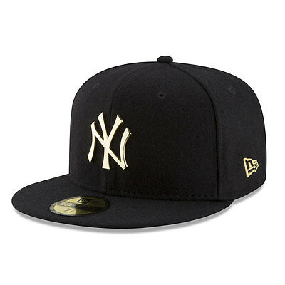 New York Yankees Official Metallic Badge MLB New Era 59FIFTY Fitted Cap