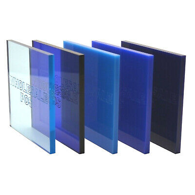 Blue Colour & Tinted Perspex Acrylic Plastic Sheets 3mm & 5mm Thick Panels