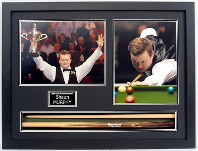 Shaun Murphy HAND SIGNED FRAMED Snooker Cue + Photo Display AFTAL Autograph COA