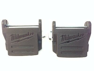 2 Milwaukee hard case plastic clips for most 12V and 18V Cases - New