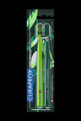 Curaprox CS 5460 Zahnbürste ultrasoft - Doppelpack - Green Edition new - OVP