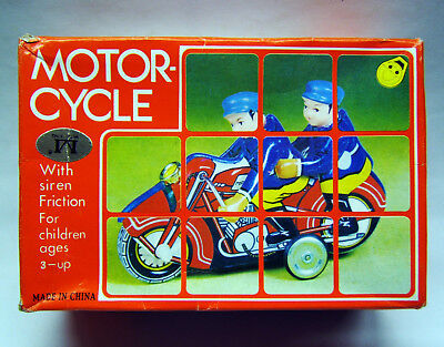 Tintoy, Blechspielzeug, Motorcycle, Motorrad MFI62, Friktion, Made in China, OVP