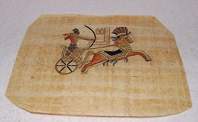 Egyptian Papyrus Genuine Hand Painted Ramsis 27 x 19cm