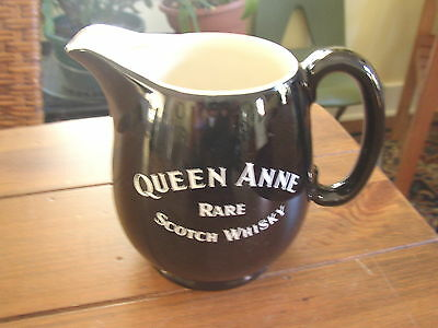 Queen Anne Rare Scotch Whisky Bar Water Pitcher, Wade Regency