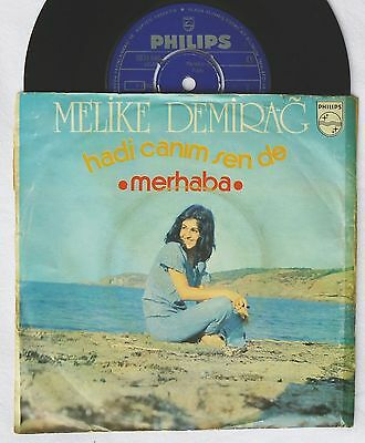 "7""  MELIKE DEMIRAG - Hadi Canim Sen De / Merhaba    turkish Funk Disco 45 Single"