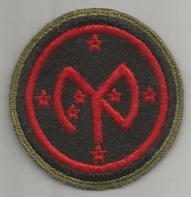 WW 2 US Army 27th Infantry Division OD Border Greenback Patch Inv# H671