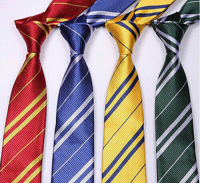 Necktie Pinstripe Costume Tie Harry Potter Hogwarts House-Wizard School Fancy S&