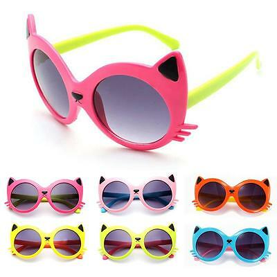 Sunglasses Baby Girls Boy Cartoon Cat UV400 Toddler Sunglasses 6Colors Good CA#