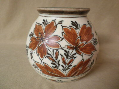 Vintage Zuid Gouda Hand Painted Art Deco Vase  3196 Dutch Braun  Great condition