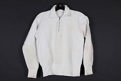 Vtg 50S Healthknit 100% Cotton 1/4 Zip Sweatshirt Usa Mens Size Small