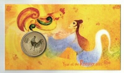 2005 Australia 50c UNC Coin - Lunar Year of the Rooster - Perth Mint