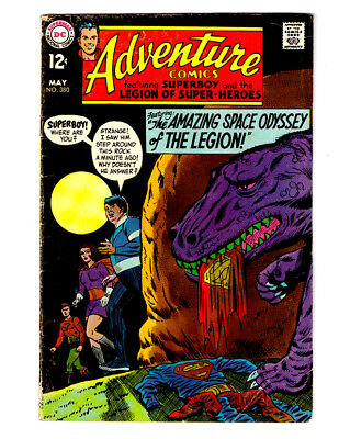ADVENTURE COMICS #380 in VG+ DC 1969 Silver Age comic  SUPERBOY & LEGION LSH