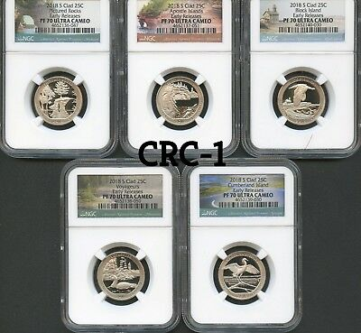 2018 S Clad America The Beautiful Set Early Releases NGC PF70 Ultra Cameo