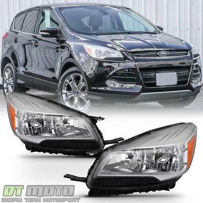 2013-2016 FORD ESCAPE Headlights Halogen Headlamps Replacement 13-16  Left+Right