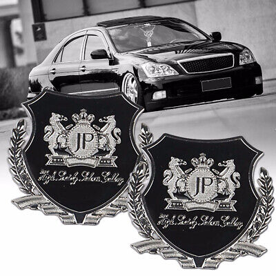 2pcs Silver JP Junction Produce Logo Car Emblem Badge Sticker for Toyota Honda