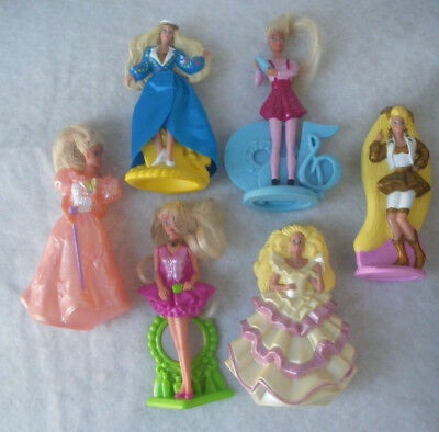 6 McDonald's  *Barbie* Puppen / Figuren 1993-95 Mattel