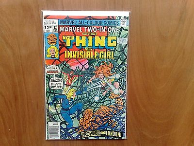 Marvel Two-In-One The Thing & Invisible Girl #32 Oct. 1977 Fine Copy Stan Lee