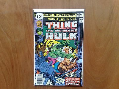 Marvel Two-In-One The Thing & Incredible Hulk #46 Dec 1978 Fine Copy Stan Lee