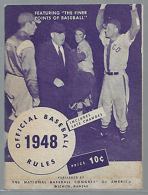 Official Baseball Rules 1948 Magazine