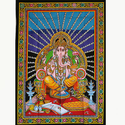 Wall Hanging Picture GANESH INDIA BOLLYWOOD Thangka Goa Hippie Wall Picture 6