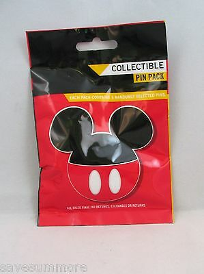 Disney Pin Collectible RED ICON HATS  Mystery Pack Random SEALED Set of 5
