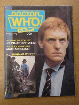 Doctor Who #76 1983 May British Weekly Monthly Magazine Dr Who Dalek Cybermen