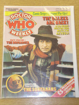 Doctor Who #8 1979 Dec 5 British Weekly Monthly Magazine Dr Who Dalek Cybermen