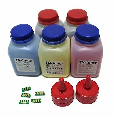 5 color toner refill kit with chips for Xerox Phaser  6022 WorkCentre 6025 6027
