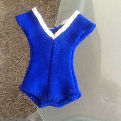 Vintage pedigree Sindy doll 1964 sweet swimmer royal blue costume fab Reduced!!