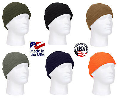MADE IN THE USA Watch Cap Knit Ski Hat Navy USMC Army USCG USAF America Beanie