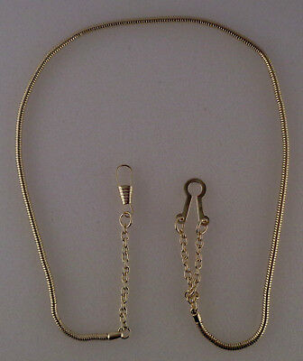 WHISTLE CHAIN Gold-tone with button style hook police/sheriff/security