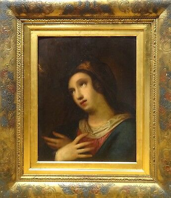 Fine 17th Century Italian School Old Master Mary Magdalene Antique Oil Painting