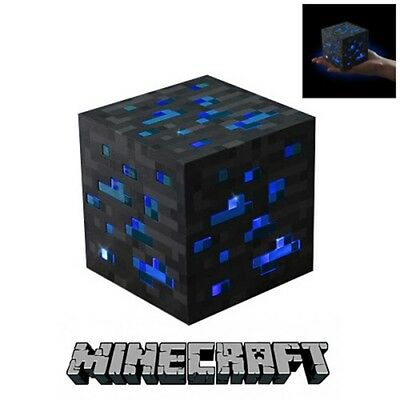 Official Licensed Minecraft Diamond Light-up Blue Ore Lamp Game Mine Craft