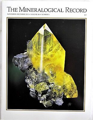 Touissit Lohning & Kaiserer Quarries Mineralogical Record Nov-Dec 2013 Vo 4 N 6