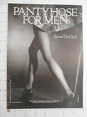 1989 Round the Clock Pantyhose for men AD Panty hose stockings hosiery sexy legs