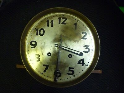 Original 1930s Wall Clock Spring Driven Chimeing Movement+Dial(15)